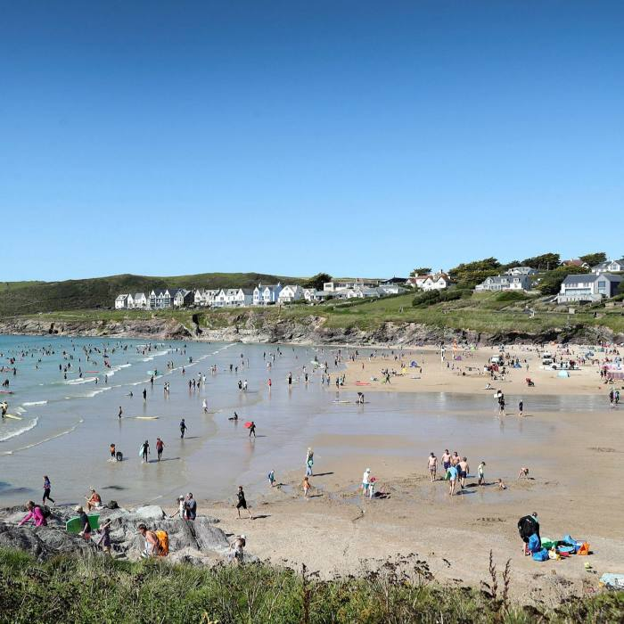 Polzeath beach in Cornwall