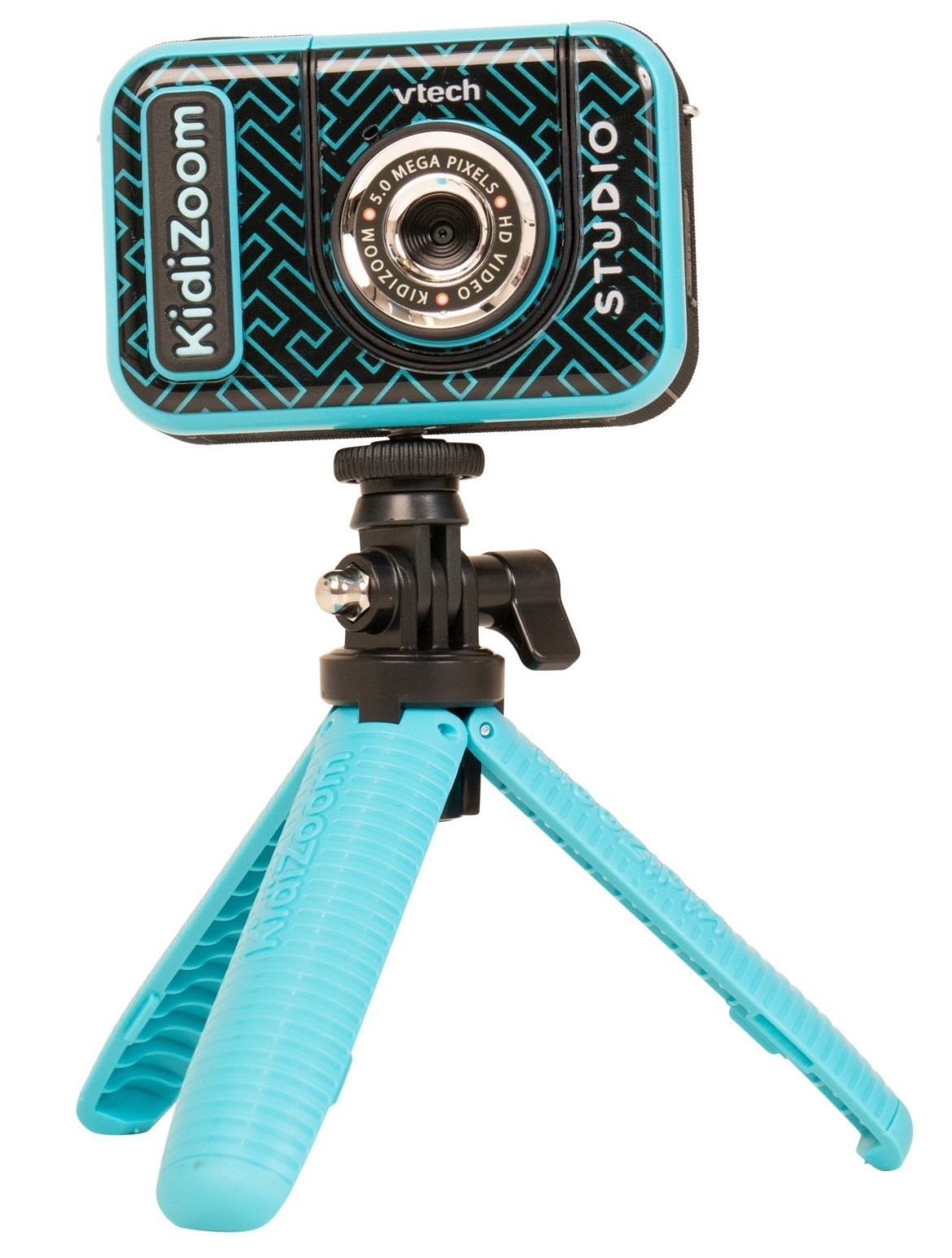 The Vtech KidiZoom is easy to use and even comes with its own green screen