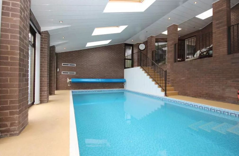 The property even boasts a huge indoor pool