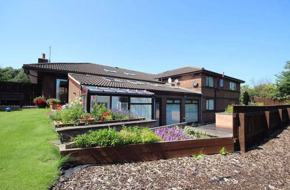 The property also has a lovely garden