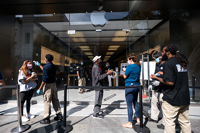 An Apple store in Charleston, S.C., is pictured. | Getty Images