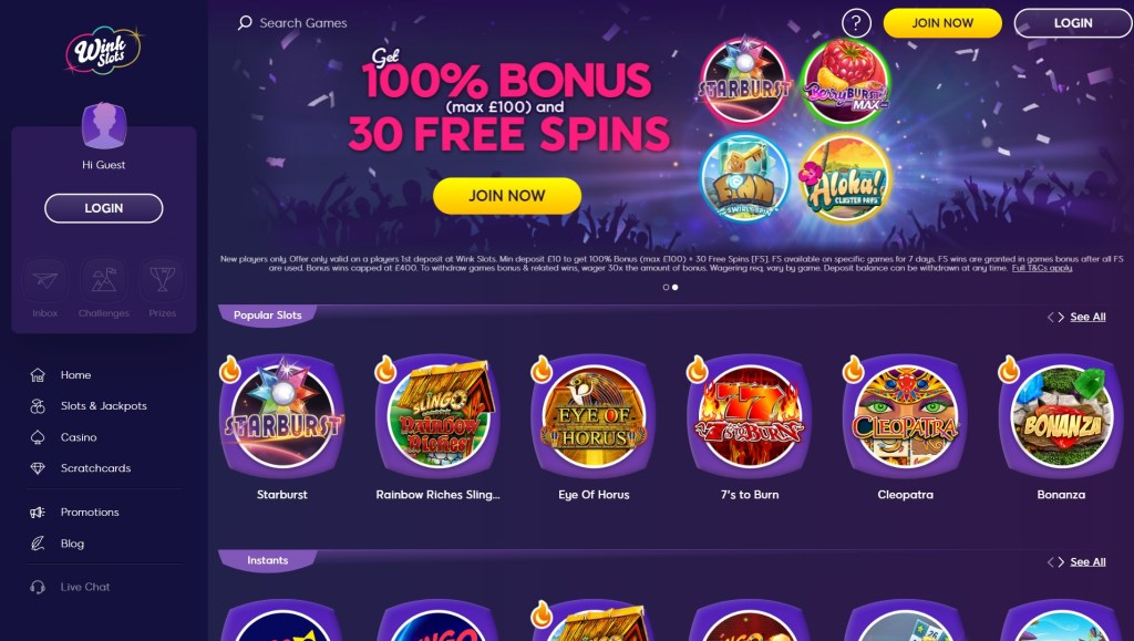 Wink Slots Casino Online Gaming Experience