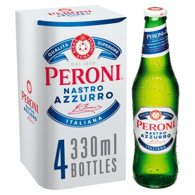 Save £2 on four bottles of Peroni Nastro Azzurro at The Co-Op