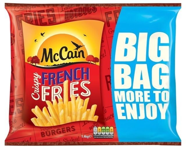 Customers can save £1 on a 1.4kg bag of McCain's french fries