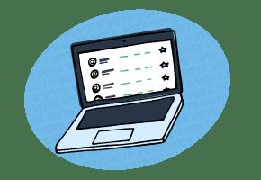 Online voting illustration