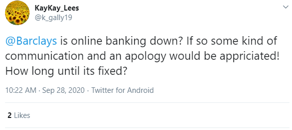 Annoyed customers took to Twitter after they were unable to access their banks online