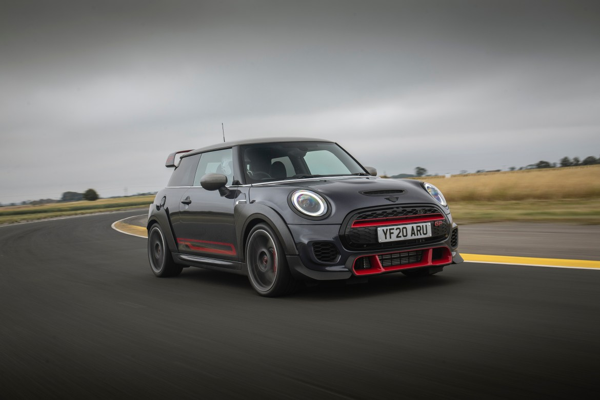 It's not exactly cheap but the Mini GP can demolish sports cars at twice the price
