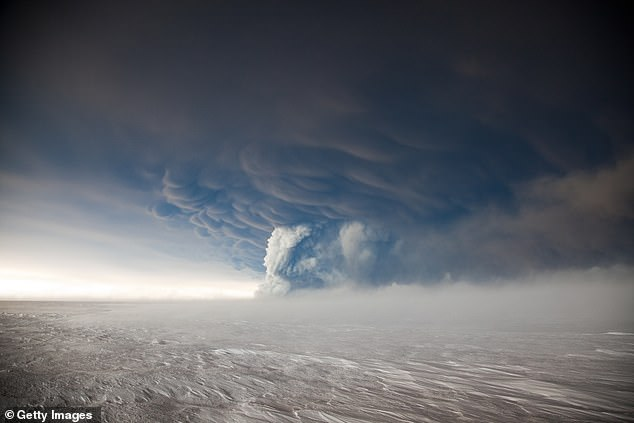 Grímsvötn last erupted in 2011 (pictured) and spewed an ash cloud 12 miles (20km) into the air, causing the cancellation of 900 flights
