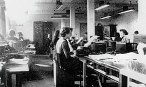 Codebreakers at Bletchley Park, Buckinghamshire, c1942.