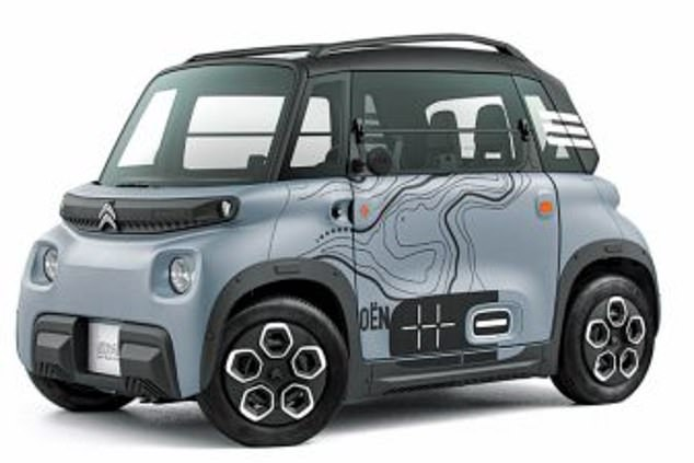 The Citroen AMI is an urban-based vehicle that features backwards-opening doors and can only reach 28mph