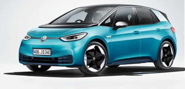 Volkswagen ID.3 (pictured) has a hi-tech dashboard and a boot capacity of 385 litres