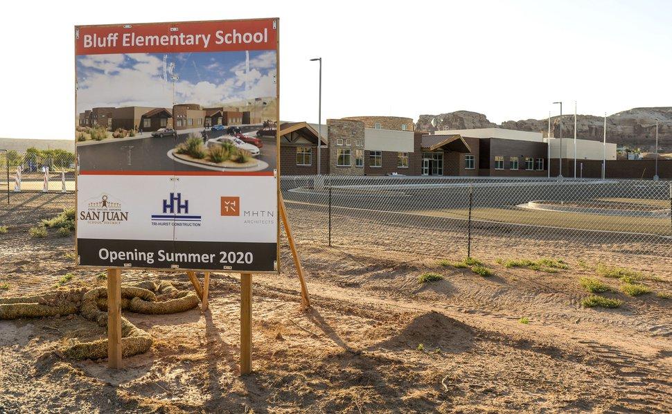 (Leah Hogsten | The Salt Lake Tribune) Bluff Elementary School under construction on June 22, 2020.