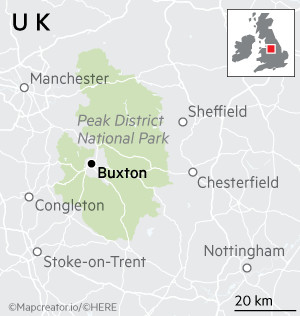 Map of Buxton, Derbyshire