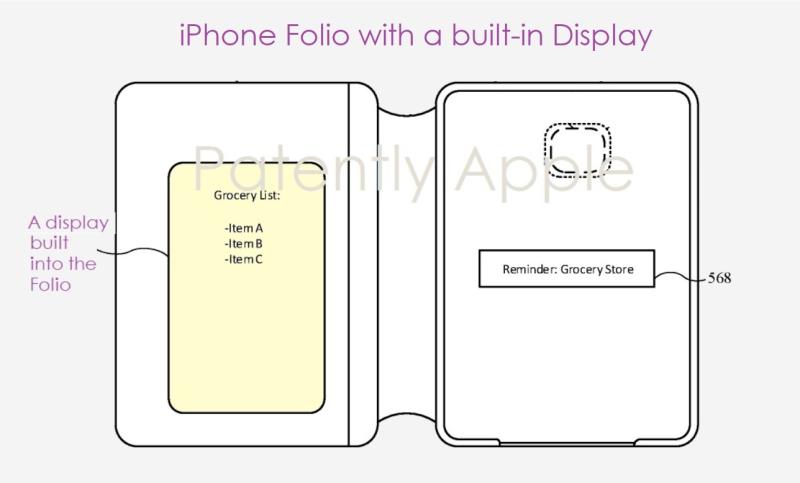 2 iPhone folio with secondary display