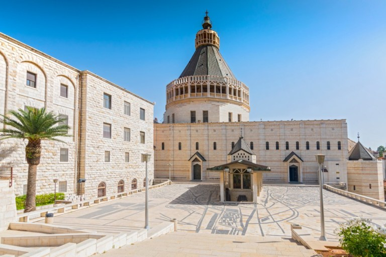 Exterior of Church of the Annunciation in the city of Nazareth in Galilee northern Israel as seen today. The Church of the Annunciation we see today had to be rebuilt over the centuries (Shutterstock)