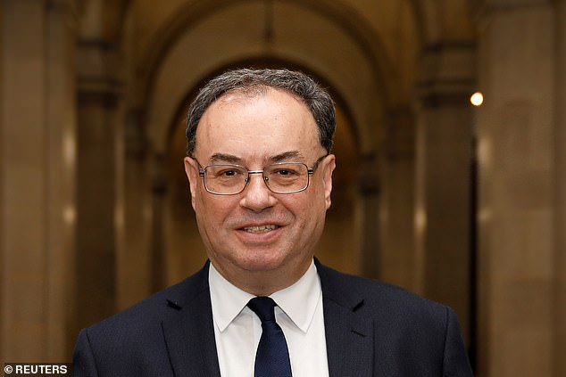 Desperate measures: Bank of England governor AndrewBailey promised to do 'whatever it takes' to keep the economy afloat