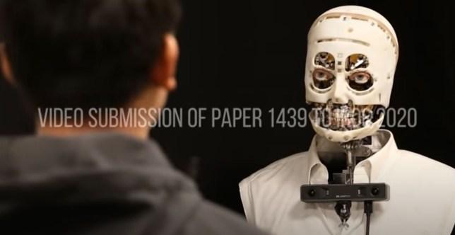 Disney's increasingly humanlike new robot (DisneyResearchHub/YouTube)