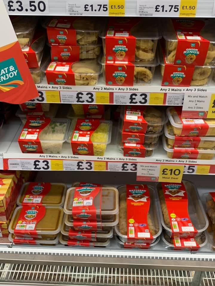 Tesco has launched a new £10 meal deal with two mains and three sides