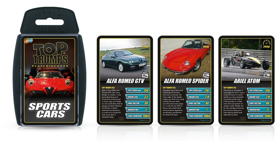 Quite possibly the best card game ever. You'll win Grand Prix Heroes, Classic Rides, Fast & Furious and Sports Cars. Prices from £4.99. Go to booghe.co.uk.