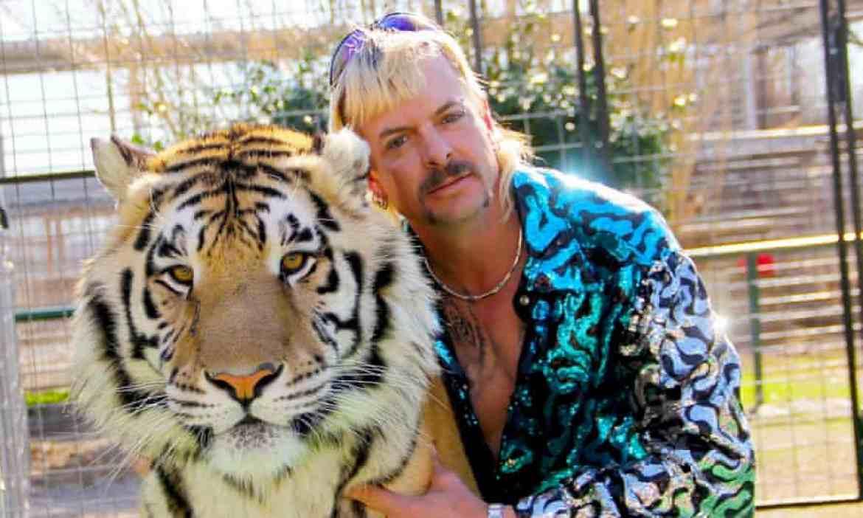 "Joseph ""Joe Exotic"" Maldonado-Passage with one of his tigers."
