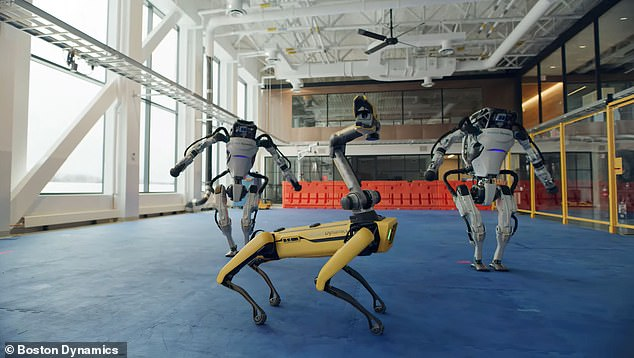 Boston Dynamics typically shares videos of its robots climbing stairs, jumping onto blocks or carrying heavy objects, but the latest clips involves the crew showing off their dance moves