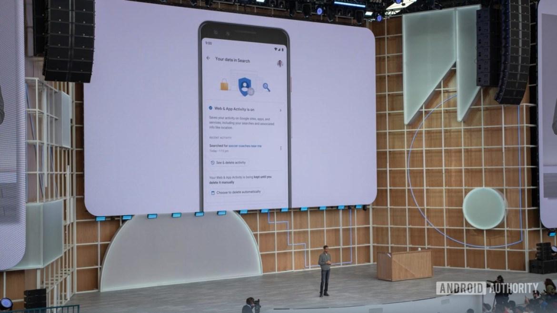 Google I/O 2019 Privacy Controls