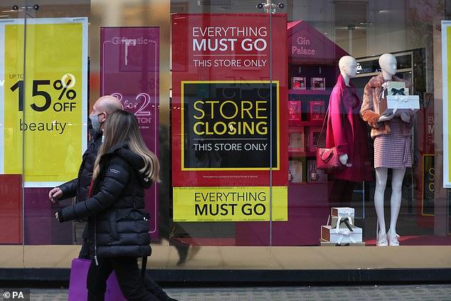 Closing down sales: Debenhams liquidation process began last month