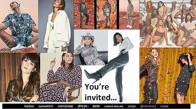 Glitzy: The invitation for event sent out to suppliers.Some guests are said to have mingled without masks, including Boohoo chief executive John Lyttle