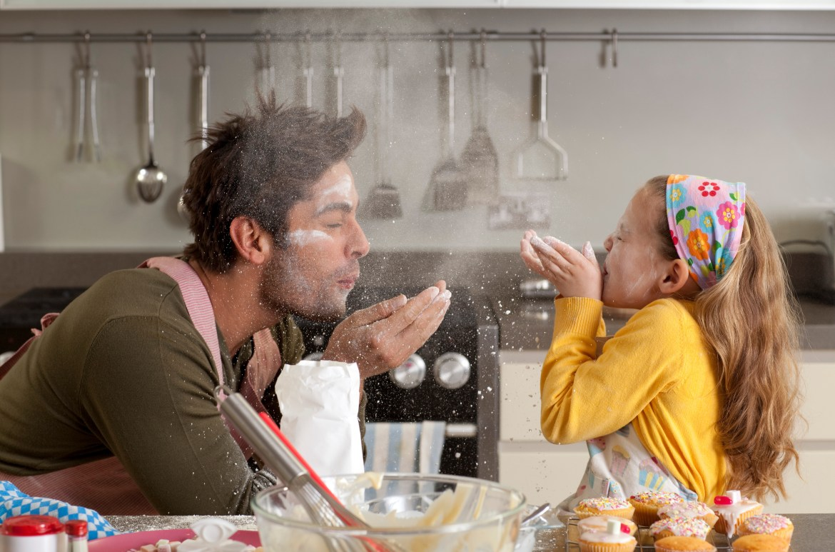 Cooking with children may get messy and that is part of the fun