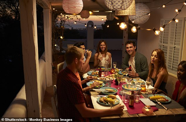 The man, from Victoria, took to social media to explain he and his wife at a dinner party to celebrate a COVID-normal lifestyle (stock image)