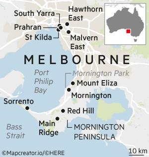 House & home map Melbourne suburbs