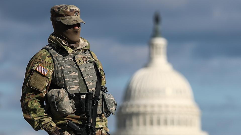 Washington, D.C., ahead of inauguration of Joe Biden