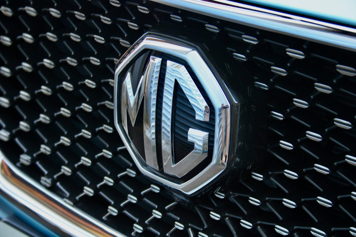 The only real clue it's an MG is the giant badge in the middle of the grille