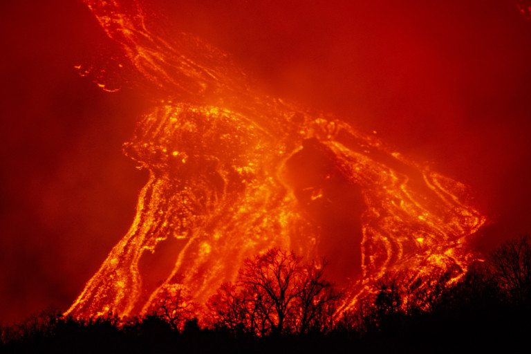 Lava flowing at the Southeast Crater (Photo by Salvatore Allegra/Anadolu Agency via Getty Images)