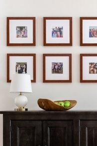 Gallery wall made with Frame It Easy custom frames. Photo by Lindsay Salazar Photography.