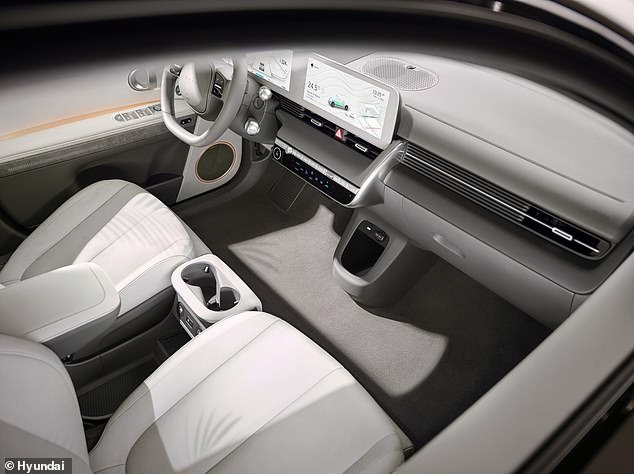 The cabin materials are almost entirely made from sustainable materials, says Hyundai