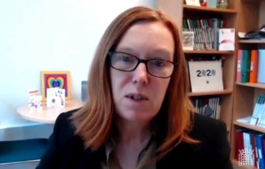 Handout screengrab from Parliament TV of Professor of Vaccinology at the University of Oxford, Sarah Gilbert, giving evidence to the Science and Technology Committee on UK Science, Research and Technology Capability and Influence in Global Disease Outbreaks. PA Photo. Picture date: Wednesday February 24, 2021. See PA story HEALTH Coronavirus. Photo credit should read: House of Commons/PA Wire