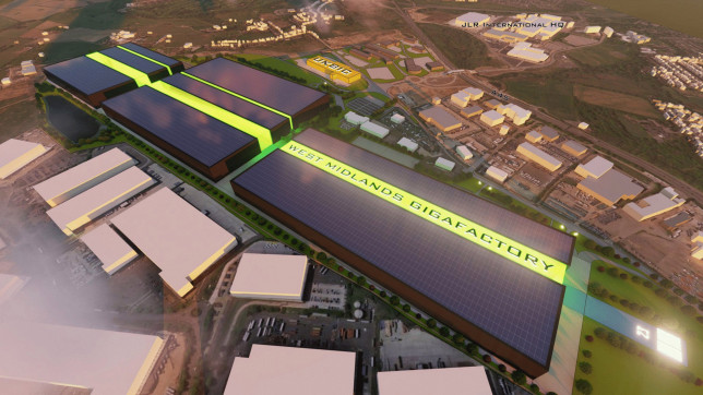 A computer generated image from Coventry City Council showing what the proposed gigafactory at the Coventry Airport site could look like. (Credits: PA)