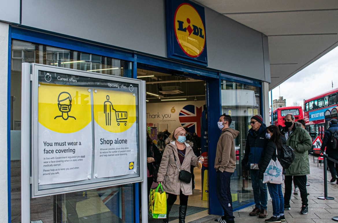 Lidl has ranked at the bottom of a poll rating supermarket Covid safety