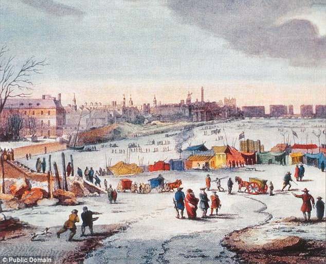The Little Ice Age, a centuries-long cold period that lasted until about 1850.Experts believe that as the North Atlantic began to warm near the end of the Little Ice Age, freshwater disrupted the system.Pictured is Thames Frost Fair, 1683¿84, by Thomas Wyke