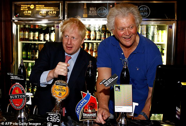 Not long to go: Prime Minister Boris Johnson with Wetherspoon boss Tim Martin