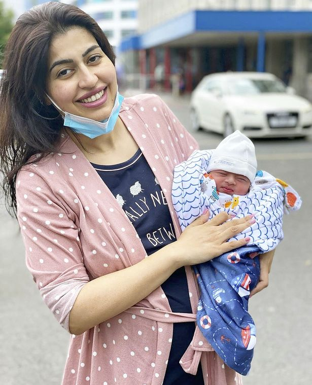 Anita and baby Rumi