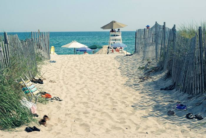 The beach is a ubiquitous pleasure in the Hamptons