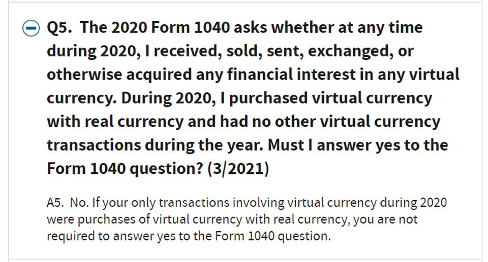 Updated Q5 on IRS FAQs on virtual currency