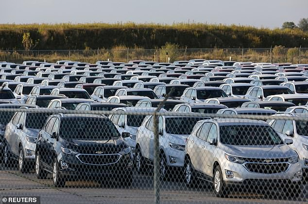 The worldwide chip shortage has caused automotive firms to halt production of certain vehicles. General Motors stopped building its Chevrolet Equinox vehicles (pictured above)