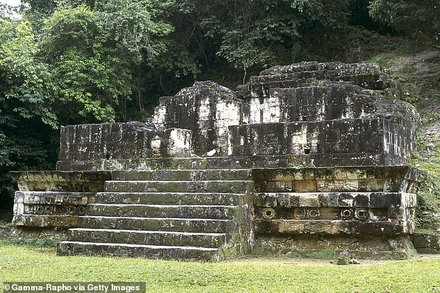 A 5th century structure from Tikal illustrating the influence of Teotihuacan, which had conquered it a century earlier