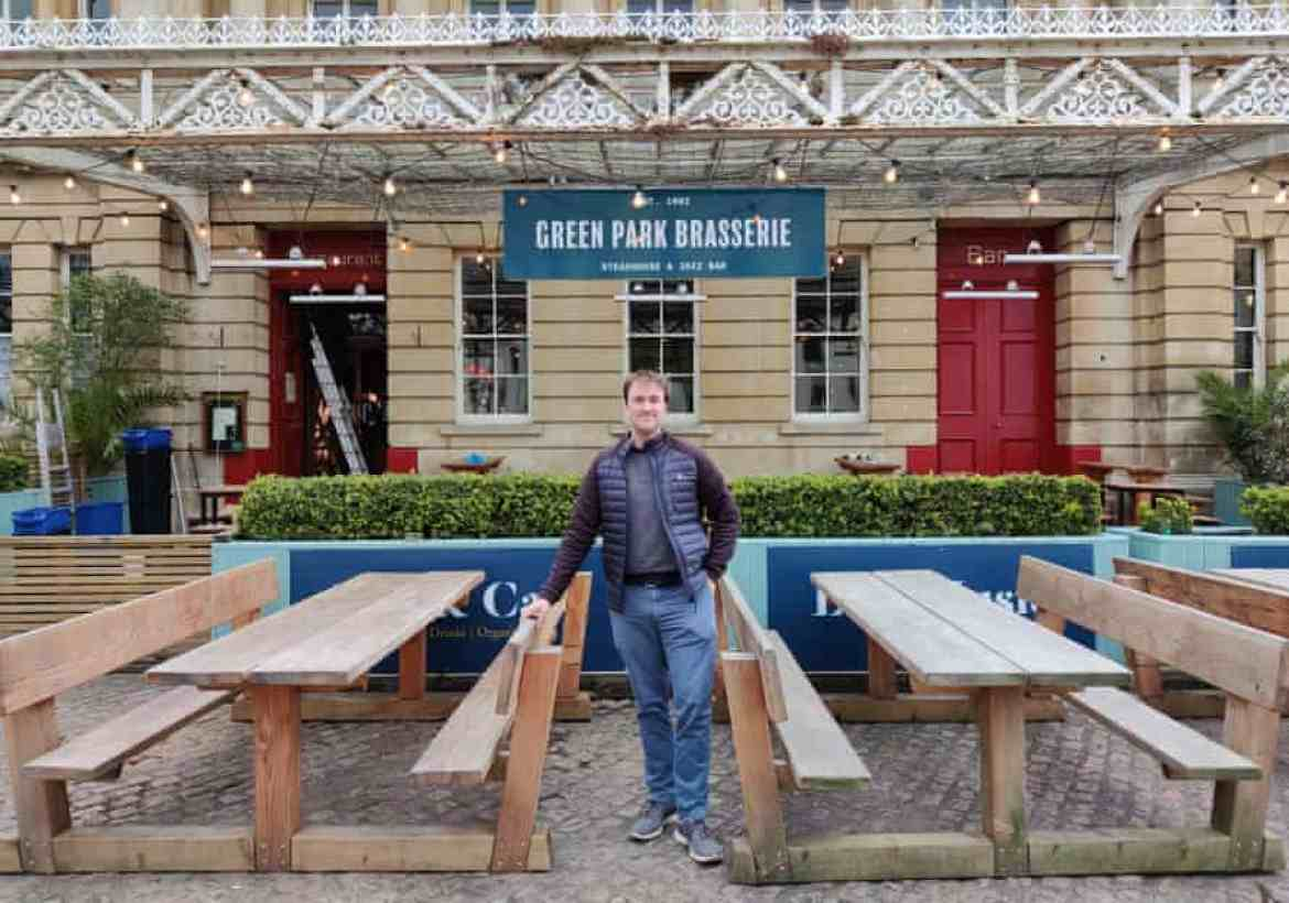 Alex Peters outside the Green Park Brasserie.