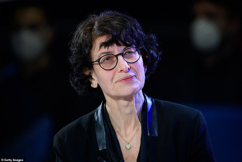 Suspending patent enforcement for vaccines 'will not increase the number of doses we will have available within the next 12 months,' Dr Özlem Türeci, Chief Medical Officer at Pfizer partner BioNTech and co-developer of its vaccine, told CNN (pictured; file)