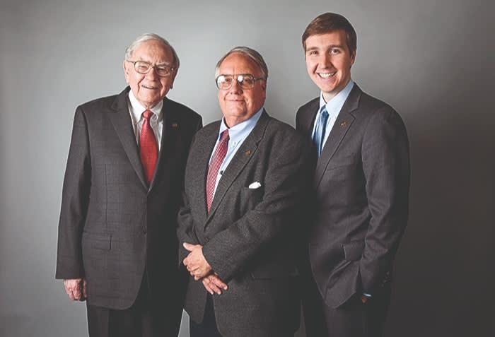 Warren Buffett, left, with son Howard Graham Buffett and grandson Howard Warren Buffett
