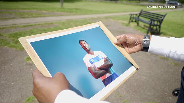 Dr Mark Price sees Kiyan Prince's virtual creation for FIFA 21